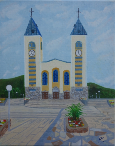 St James Church, early morning Artist from N. Ireland: Paula Connolly