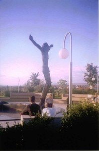 PRAYER AREA AROUND THE STATUE OF THE RISEN SAVIOUR - MEDJUGORJE