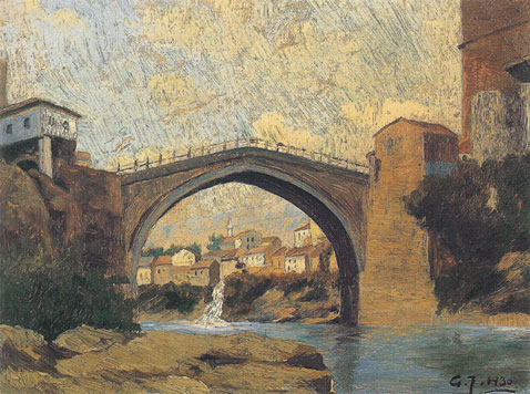 GABRIJEL JURKIĆ - STARI MOST - THE OLD BRIDGE - MOSTAR - 1930