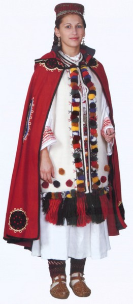 THIS CROATIAN NATIONAL COSTUME FROM IVANJSKA, BIH, HAS BEEN PROCLAIMED THE MOST BEAUTIFUL AT THE INTERNATIONAL COMPETITION IN CHINA, 2004, WHERE 60 COUNTRIES HAVE PARTICIPATED (PHOTO BY JOSIP PURETIC, SVJETLO RIJECI; PUBLISHED IN [MARIC, ORLOVIC])