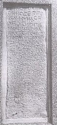 "KOCERIN TABLET FROM 1404 (CARVED IN STONE IN KOCERIN NEAR SIROKI BRIJEG), WITH ABOUT 300 CROATIAN CYRILLIC LETTERS (THIS THE LARGEST KNOWN TEXT IN CROATIAN CYRILLIC   APPEARING ON STECAK'S); THE TEXT IS WRITTEN IN IKAVIAN DIALECT, AND STARTS WITH INVOCATION OF HOLY TRINITY:      VA IME OCA I SINA I SVETOGA DUHA, AMIN, SE LEZI VIGANJ MILOSEVIC..., AND THE CONCLUDING MESSAGE IS INDICATIVE: I MOLJU VAS NE NASTUPITE NA ME, JA SAM BIL KAKO VI JESTE,   VI CETE BITI KAKOV SAM JA (""AND I ASK YOU NOT TO STEP ON ME, I WAS LIKE YOU, AND YOU WILL BE LIKE ME"")"