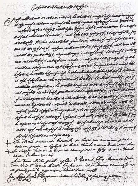 REPRESENTATIVES OF ORAHOV DO, CESLJAR, GOLUBINAC, KIJEV DO AND BELINIC SENDING LETTER TO EMPEROR LEOPOLD I ASKING HIM FOR PROTECTION IN 1688. SEE [DUBLJANI, P. 92].