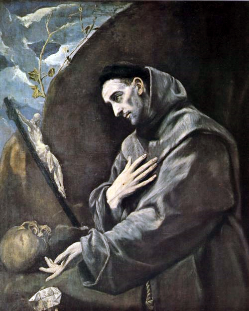 THE ORDER OF FRIARS MINOR AND OTHER FRANCISCAN MOVEMENTS ARE DISCIPLES OF SAINT FRANCIS OF ASSISI. PAINTING BY EL GRECO