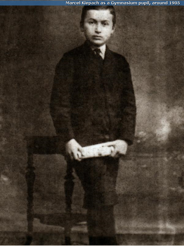 MARCEL KIEPACH AS A GYMNASIUM PUPIL, AROUND 1905