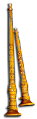 SOPILA  THE SOPILA (OR ROŽENICA, AS A SIMILAR INSTRUMENT IS CALLED IN ISTRIA) IS AN OLD TRADITIONAL INSTRUMENT SIMILAR TO TODAY'S OBOE. IT HAS BEEN PRESERVED IN THE AREAS OF KVARNER, KASTAV, VINODOL, AND ON THE ISLAND OF KRK.  THE SOPILA IS A DESCENDANT OF THE OLD EUROPEAN SHAWM, AN INSTRUMENT THAT DEVELOPED NEAR THE END OF THE MIDDLE AGES AND WHOSE MAIN CHARACTERISTICS WERE DOUBLE REEDS AND A CONICAL BORE ALONG THE ENTIRE INSTRUMENT. THIS PRIMITIVE INSTRUMENT DISAPPEARED COMPLETELY FROM EUROPEAN MUSIC AROUND 1700, WHEN IT WAS REPLACED BY THE MUCH MORE REFINED OBOE. THE OLD SHAWM WAS STILL TO BE FOUND HERE AND THERE IN EUROPE, BUT ONLY AS A FOLK INSTRUMENT (E.G. IN THE SWISS ALPS, IN ABRUZZI, ITALY, WHERE IT IS CALLED THE PIFFERO, AND, OF COURSE, IN ISTRIA AND THE KVARNER REGION OF CROATIA).