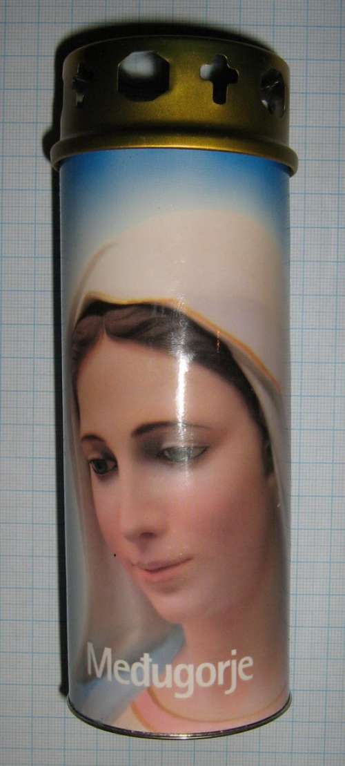 EC-L C06 - Ecological Candle - Large - Medjugorje Queen of Peace