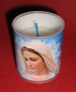 EC-S C07 - Ecological Candle - Small - Medjugorje Queen of Peace – Medjugorska Gospa – Kraljica Mira