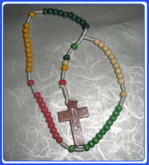 E8021013-WR001-Misionarska krunica Wooden Missionary Rosary