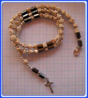 RMBR-0102 Rock Bracelet-Rosary of Mary Mother of God-with magnet