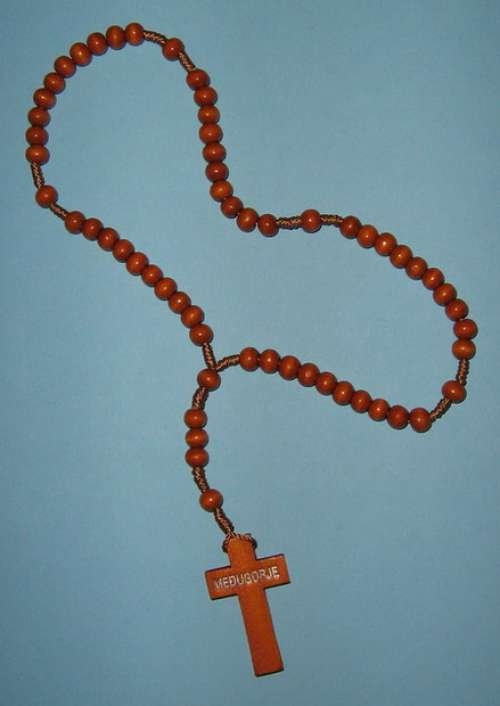 WR003 Wooden Rosary of Mary Mother of God (Gospa) of Medjugorje