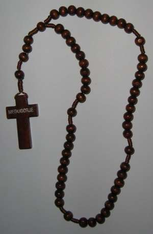 E8140017 DBR - WR004 Wooden Rosary - dark brown