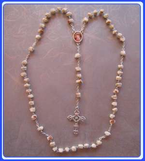RR-0108 Stone Rosary of Immaculate Mary-Gospa of Medjugorje