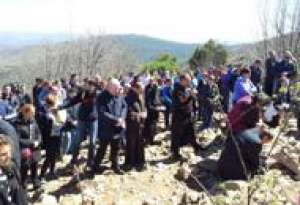 Way of the Cross in the time of Lent in Medjugorje