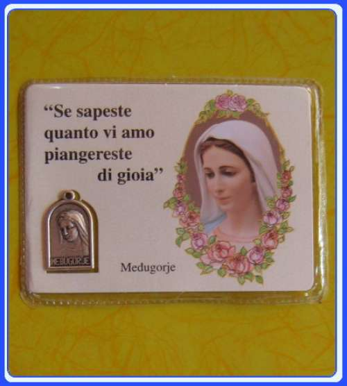 PC_IT101 Medjugorje Prayer Medal Card - Italian